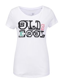 """""""Dobré"""" bílé dámské tričko s potiskem Elpida"""