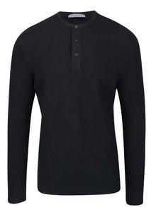 Černé triko s dlouhým rukávem Selected Homme Done
