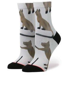 Bílé dámské ponožky s potiskem koček Stance Cats