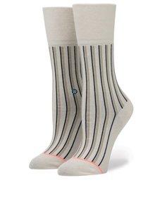 Béžové dámske pruhované ponožky Stance Stripe up