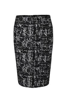 Bielo-čierna vzorovaná sukňa Fever London Logan