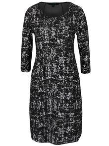 Černé vzorované strečové šaty s kapsami Fever London Logan