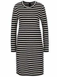 Bielo-čierne voľnejšie pruhované šaty ONLY Mettis