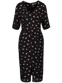 Černé šaty s motivem bobulí Trollied Dolly Slit To The Knee