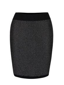 Černá úpletová sukně s metalickým prošíváním Lavand