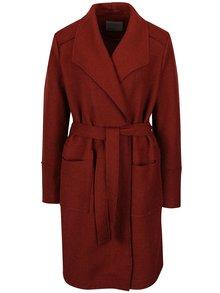 Tehlový ľahký rebrovaný kabát VERO MODA Sabrina