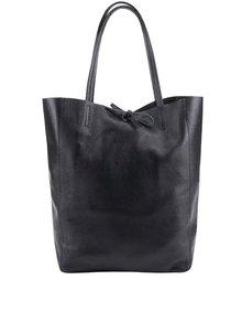 Geanta shopper neagra din piele - ZOOT Simple