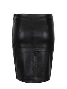 Čierna koženková sukňa VERO MODA Clara