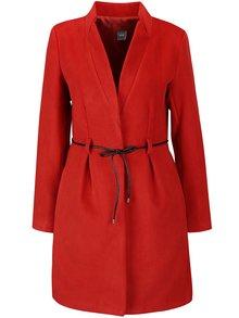 Palton roșu ZOOT Simple cu guler cu revere