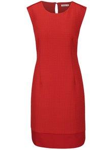 Červené šaty s jemným vzorom Lavand