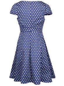 Modré bodkované šaty s krátkym rukávom Dolly & Dotty Claudia