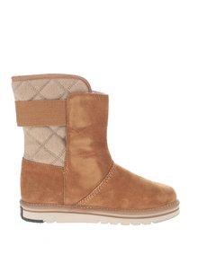 Svetlohnedé kožené vodeodolné zimné topánky SOREL Newbie