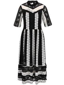 Rochie albă Closet cu dungi negre