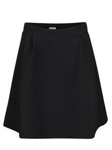 Černá překládaná sukně s jemným plastickým vzorem VILA Mounta