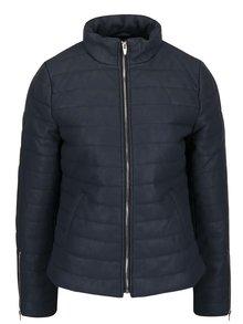 Tmavě modrá prošívaná bunda se zipy na rukávech VILA Ebony