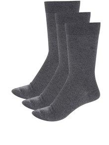 Sada tří pánských ponožek v šedé barvě CR7