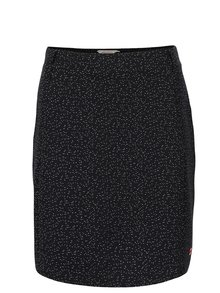 Čierna vzorovaná sukňa s vreckami Skunkfunk Matilda