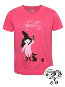 Růžové holčičí tričko s potiskem ZOOT Kids Kouzelnice