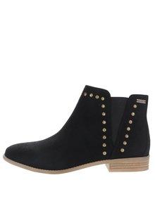 Čierne chelsea členkové topánky s aplikáciou Roxy Austin