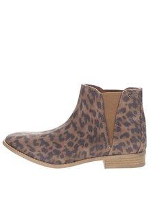 Hnedé členkové topánky s leopardím vzorom Roxy Austin