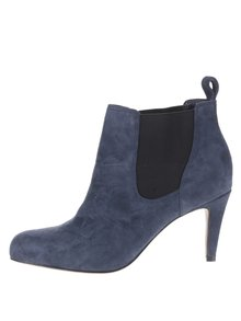Tmavě modré dámské semišové kotníkové boty Clarks Carlita
