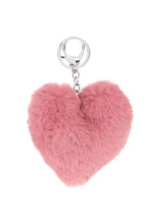 Růžový přívěšek ve tvaru srdce Haily´s Pompom