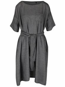 Tmavosivé oversize šaty Skunkfunk Annua