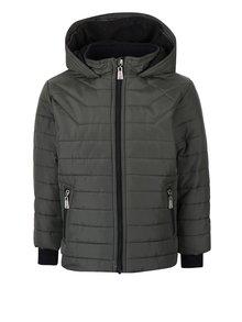 Khaki chlapčenská prešívaná bunda s kapucňou North Pole Kids