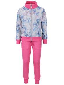 Trening gri & roz North Pole Kids cu imprimeu pentru fete