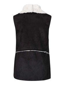 Černá vesta s umělým kožíškem Madonna