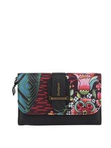 Černá peněženka s barevným potiskem Desigual Lengüeta Íkara