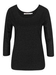 Černé třpytivé tričko s 3/4 rukávy Rich & Royal