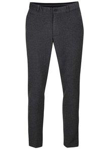 Sivé pánske nohavice s prímesou vlny Casual Friday