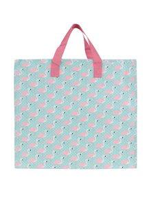 Růžovo-tyrkysová taška s potiskem plameňáků Sass & Belle