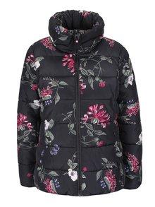 Čierna dámska prešívaná bunda s potlačou kvetov Tom Joule Florian