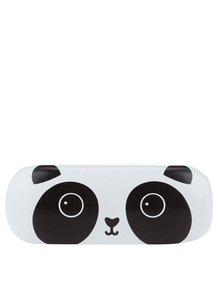 Čierno-biele puzdro na okuliare s motívom pandy Sass & Belle Kawaii Friends