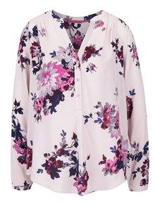 Bluză roz deschis Tom Joule Rosamund cu model înflorat