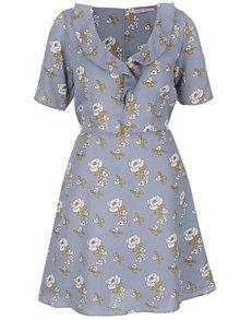 Rochie albastru deschis Trollied Dolly Frill Tea cu imprimeu floral