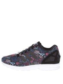Černé dámské tenisky s květovaným vzorem adidas Originals Flux