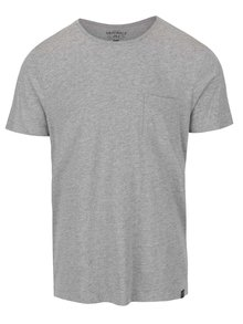 Svetlosivé tričko s vreckom Jack & Jones Ari
