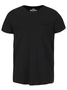 Černé triko s kapsou Jack & Jones Ari