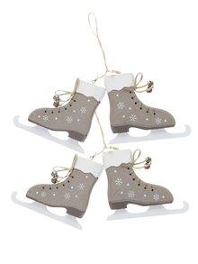 Set de 2 decorațiuni Dakls în formă de patine