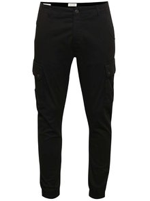 Pantaloni negri Jack & Jones Paul