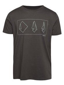 """Dobré"" šedé pánské triko s potiskem Mamma HELP"