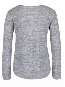 Svetlosivé melírované tričko s dlhým rukávom Haily´s Mabel