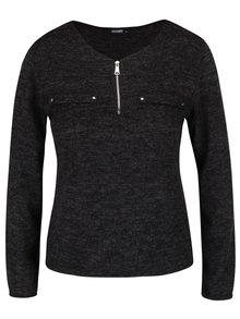 Čierne melírované tričko s dlhým rukávom Haily´s Mabel