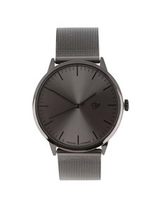 Ceas negru unisex CHPO Nando Metal din oțel inoxidabil