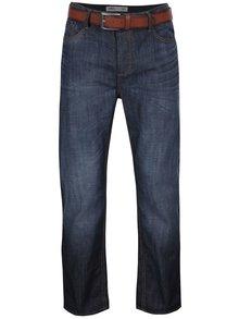Tmavě modré džíny s páskem Burton Menswear London