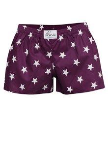 Fialové dámské trenýrky s motivem hvězd El.Ka Underwear