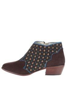 Modro-hnedé členkové topánky Shoo Juliette
